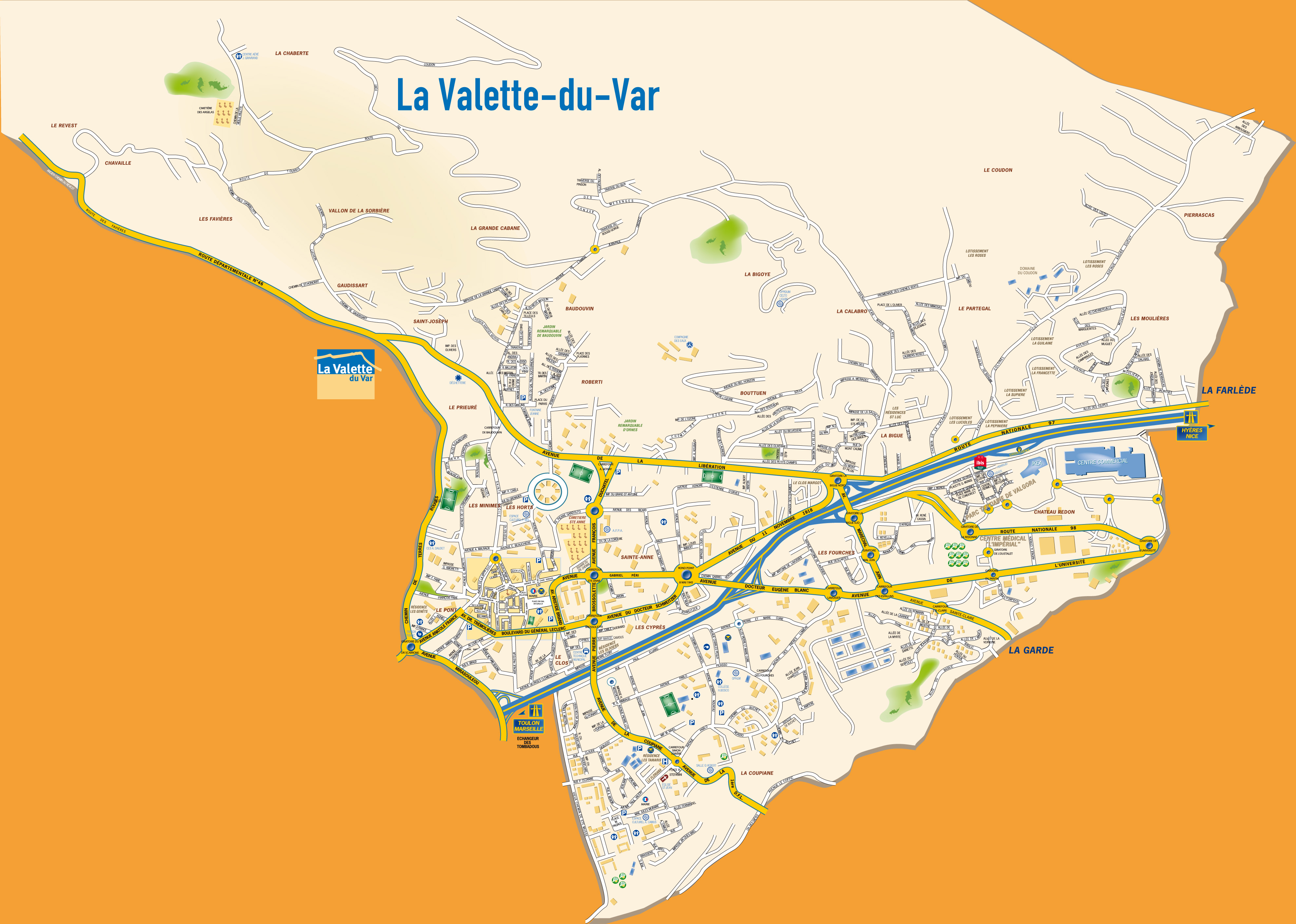 Carte de la Valette